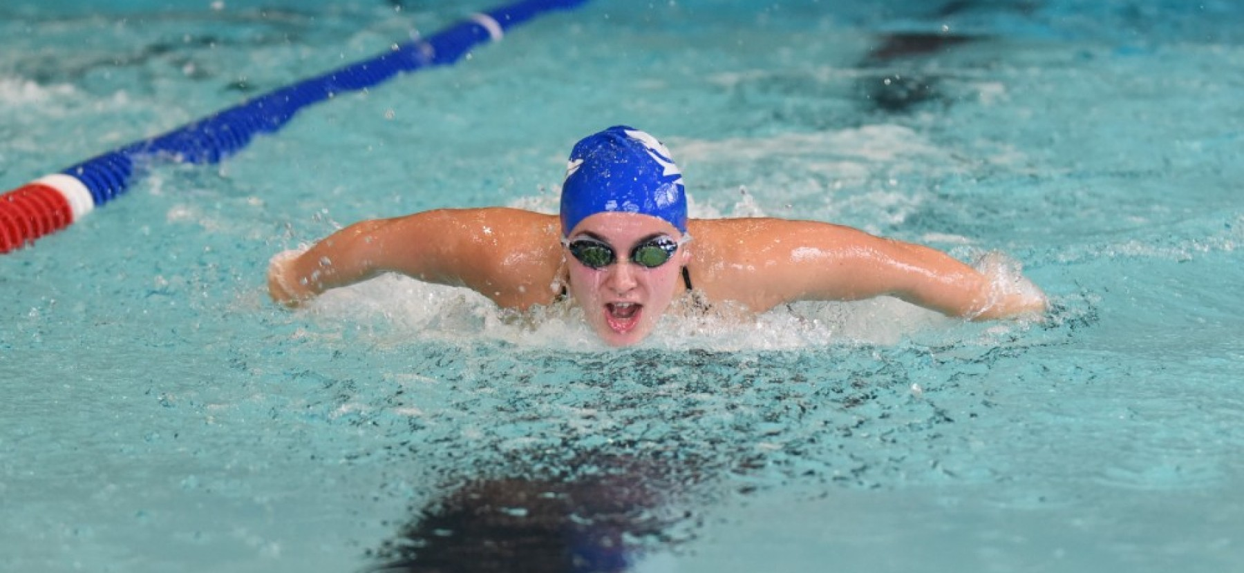 Aleya Hill swims the butterfly.