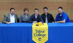 Jakob Brucks (Wichita, Kan.) Signs His Letter of Intent to play Tennis Next Season for the Bluejays